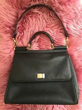Authentic Dolce Gabbana Large Sicily Tote in Black