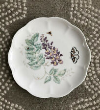 "Lenox China Butterfly Meadow - Eastern Tailed Blue 9-1/8"" Accent Luncheon Plate"