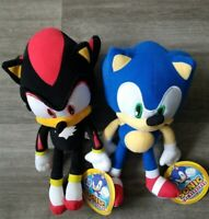 SONIC, Toy Factory Plush Set 12inches Sonic and Shadow New Stuffed Sega Toy