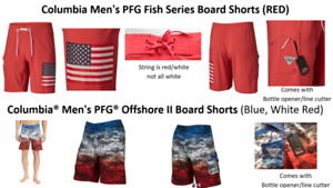 NWT, Columbia PFG Board Shorts & Offshore II Board Shorts, Multi Sizes; MSRP $60