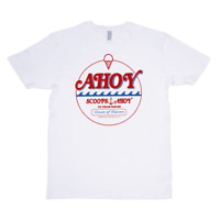 Scoops Ahoy Ice Cream Parlor Hawkins, Indiana White T-Shirt Custom Cool Funny 11