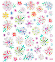 Foil Garden Marble Flowers Stickers Papercraft Planner Supply DIY Crafts Cards