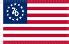BETSY ROSS '76 Flag 2X3 Feet 100% American Flag Brass Grommet USA SPIRIT OF 1776