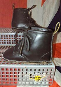 Auburn 1460*Black Dr Doc Martens Infant Crib Boots Shoes*Kids Girls Boys Baby*2