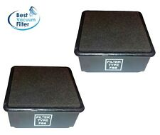 2 HEPA Filter & Foam made to fit Dirt Devil F66 Featherlite UD70100, 304708001