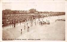 The Sands & Atlantic Hotel Beach Promenade Plage Bateaux, Weston super Mare 1923