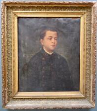 SUPERB 19th Century Continental / French PORTRAIT of a Young Boy FOR RESTORATION
