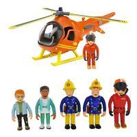 Fireman Sam Toy Figure Set & Helicopter Bundle Rescue Emergency Set New Boxed