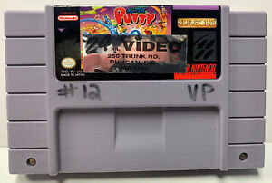 Super Putty for Super Nintendo SNES Authentic NTSC Cartridge Only Stickered