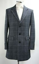 Men's A&D Hope Checked Navy Blue Coat (M).. Sample 5963