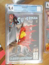 superman 75 death of superman cgc 9.4