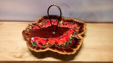 """Vintage French oyster plate dish BERETTA Vallauris 60//70/'s couleurs vives 9.50/"""""""