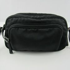 Coach Mercer F1J-7433 Camera Zip Crossbody Bag Leather Trim Nylon Canvas Black