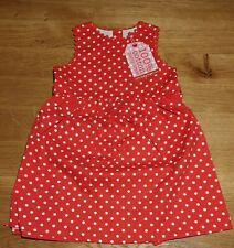 Toby Tiger Baby Girl's Party Dress Spot 1-2Y 92cm RRP£27 (3365)