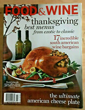 Food & Wine Magazine 2007 Thanksgiving Dean Fearing American Cheese Plate