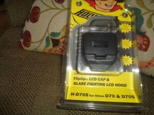 Hoodman FlipUp LCD Hood H-D70S for Nikon D70 & D70S New - Original Packaging