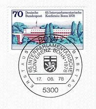 BRD 1978: Bundeshaus in Bonn Nr. 976 mit Bonner Ersttags-Sonderstempel! 1A! 154