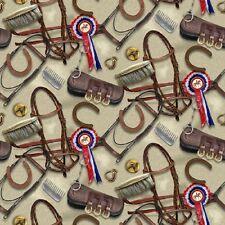 Fat trimestre monde du cheval poney cheval Tack quilting Tissu coton SPX 25324