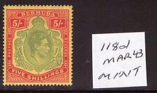 BERMUDA GEORGE VI 5/- SG118d mach 43 Ptg.lightly hinged Cat. £100.