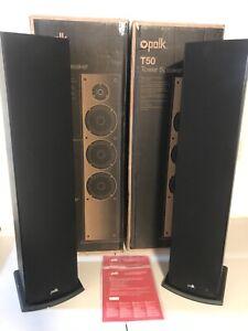 Polk Audio T50 150 Watt Home Theater Floor Standing Tower Speakers (PAIR) NEW!!!