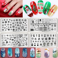 Christmas Nail Art Stamping Plate Skull Stamp Image Stencils Harunouta Templates