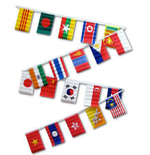 30ft String Flag Set of 20 Asian Country 12x18 Bunting Flag Banner Flags