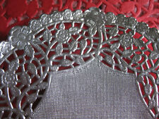 """10 pcs ❤️ 12"""" INCH ROUND SILVER FOIL PAPER LACE DOILY WEDDING PLACEMAT CHARGER"""