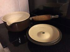 Le Creuset Sauce Pan & Lid 14 cm Brown Milk Pan