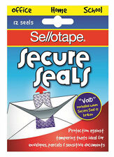 SELLOTAPE SECURE SEALS-VOID IF REMOVED SECURITY SEALS 3 PACKS OF 12