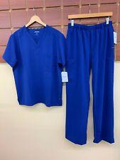 NEW Men's Jockey Galaxy Blue Solid Scrubs Set With Medium Top & Medium Pants NWT