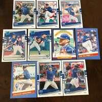 2020 Topps Donruss Baseball Texas Rangers Base MLB Team Set of 11 Cards: #21