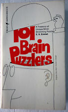 101 Brain Puzzlers Unique Mind-Stretching Puzzles by E. R. Emmet VTG MMPB 1970