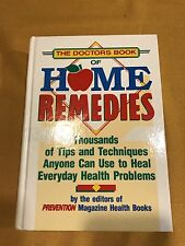 The Doctors Book Of Home Remedies Prevention Magazine Health HC 1990