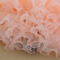 Lace Mesh Ruffles Edge Pleated Sewing Organza Trimming DIY Craft Fabric 5 Meters