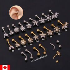 1PC trend Flower Star Curved Ear Piercing Barbell Banana Eyebrow body jewelry