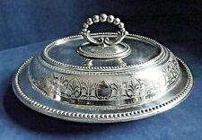 "SUPERB Large ORNATE 12"" ~ SILVER Plated ~ Ornate SERVING DISH ~ c1890"