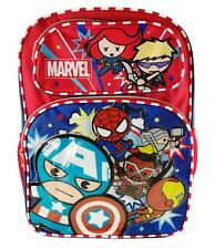 Disney Marvel Cute Chibi Avenger Large Back to School Canvas Backpack Book Bag