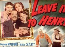 Title Card 1949 LEAVE IT TO HENRY Raymond Walburn