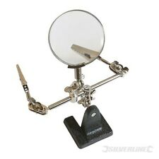Soldering Iron Stand Helping Hand Magnifying Glass & Crocodile Clips (633830)