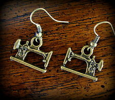 Antique style Sewing MACHINE Quilting Earrings - Vintage retro look Treadle