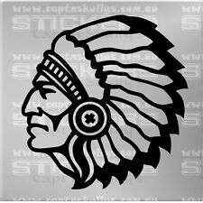 CHIEF INDIAN DECAL 200mmx210mm 15 COLOURS TO CHOOSE MPN 928
