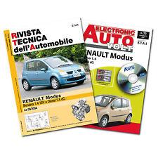 1 Manuale tecnico riparazione/manutenzione+1 Manuale Diagnosi Auto Renault Modus