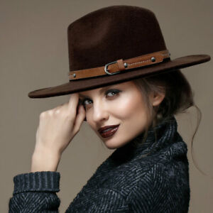 Parker Sparrow Brown Buckle Faux Leather Band Panama Hat
