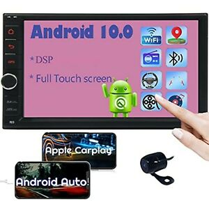 """Quad 4 Core 16GB Android 10.0 7"""" Double 2DIN Car GPS Navigation Stereo Radio Cam"""