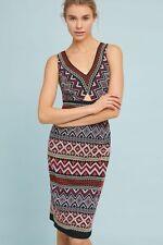NWT Anthropologie Geo-Embroidered Column Dress by Akemi + Kin Size 0