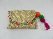Shiraleah Chicago Tassel Straw Yolo Clutch NWT