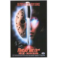 Kane Hodder Friday the 13th Poster PSA/DNA COA Item#10075036