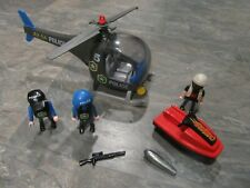 Playmobil 5764 SWAT Team Police Helicopter and Jet Ski Set - Gently Used