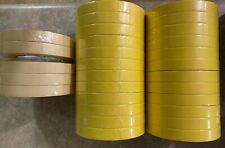 "24 Rolls of 3M 06652 3/4"" Yellow Tape & 5 Rolls American 3/4"" Tape"