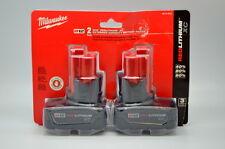 Milwaukee 48-11-2412 M12 Redlithium XC Extended Capacity 2 Battery Pack NEW